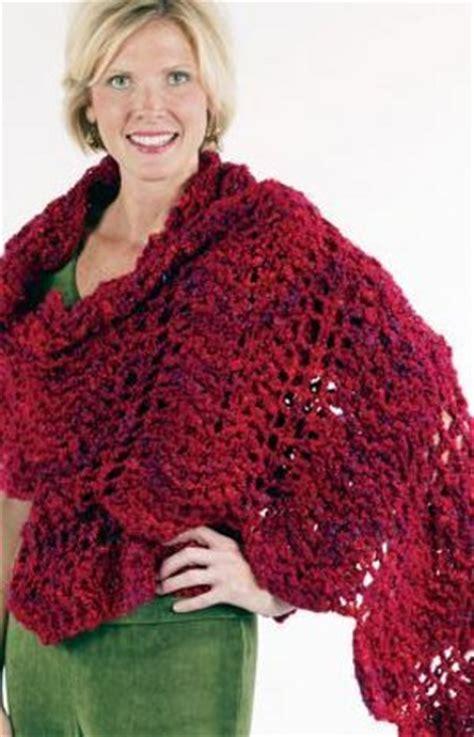 wavy  warm winter shawl favecraftscom