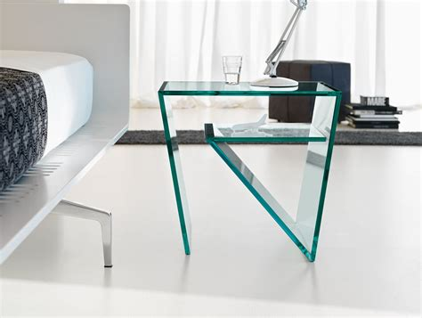 glass bedroom side tables nella vetrina tonelli zen contemporary italian designer