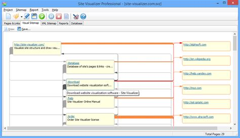 draw sitemap visualize website automatically draw pages and links