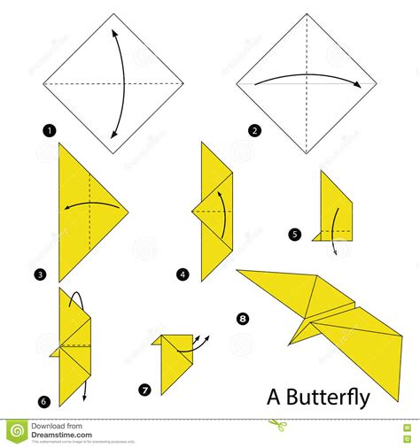 How To Make A Paper Butterfly Easy - origami origami butterfly step by step ot