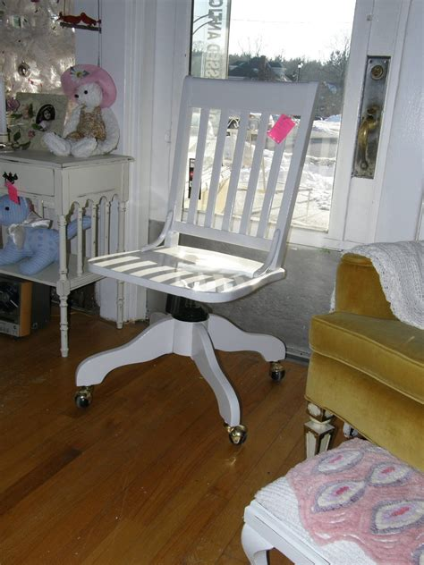 shabby chic white desk chair vintage by vintagechicfurniture