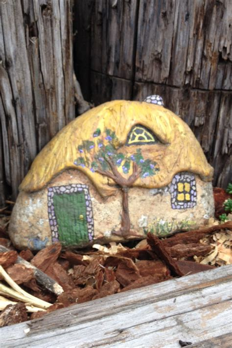painted rock houses painted rock house for fairy garden rocking my world