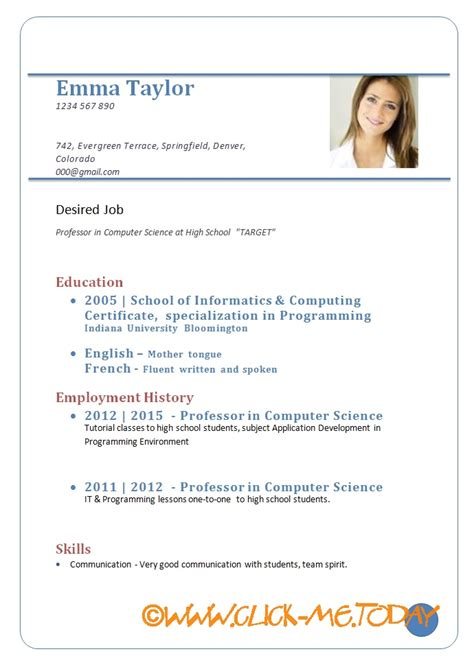cv format download pdf sample cv for job download format doc pdf