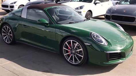 porsche targa green 2017 cpo porsche 911 targa 4s paint to sle green