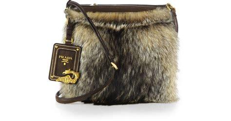 Prada And Marmot Fur Messenger Bag by Prada Fox Fur Messenger Bag In Lyst