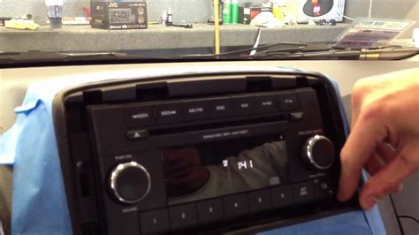 dodge caravan   remove radio dash stereo install