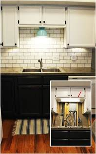 Above Kitchen Cabinet Lighting Diy Kitchen Lighting Upgrade Led Cabinet Lights Above The Sink Light