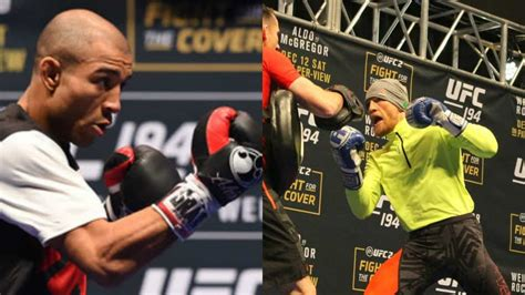 jose aldo vs conor mcgregor ufc 194 open workouts