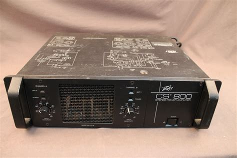 Power Lifier Peavey Cs 800 Peavey Cs800 Stereo Power Cs 800 Lifier What S It Worth