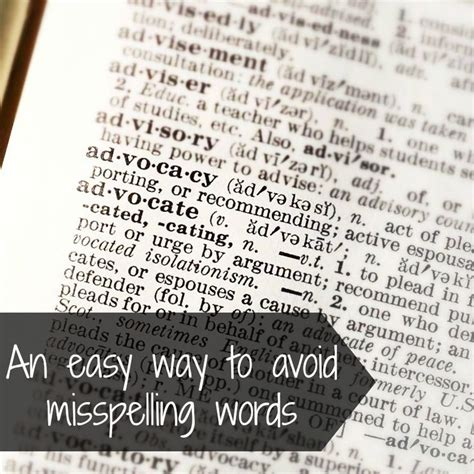 misspelled words commonly misspelled words and how to avoid them