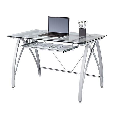 office depot glass desk realspace vista glass computer desk silver by office depot