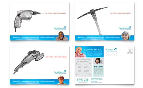 Dental Care Postcard Template Word Publisher Dental Postcards Templates