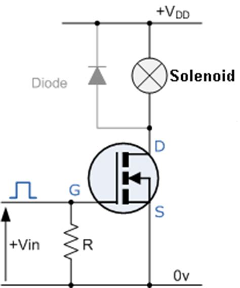transistor solenoid driver microcontroller driving solenoids from arduino electrical engineering stack exchange