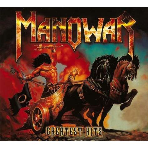 best album manowar greatest hits by manowar cd x 2 with techtone11 ref
