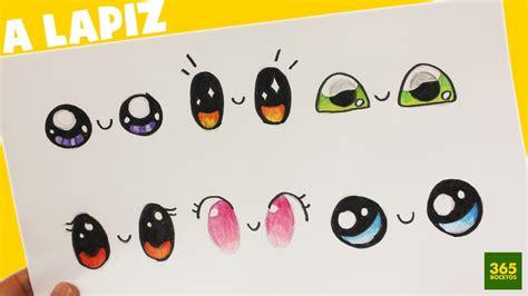 imagenes de ojos kawai como dibujar ojos kawaii paso a paso dibujos kawaii