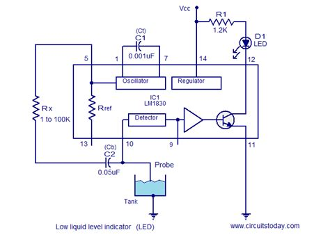 why resistors are used in water level indicator liquid level indicator circuits using lm1830