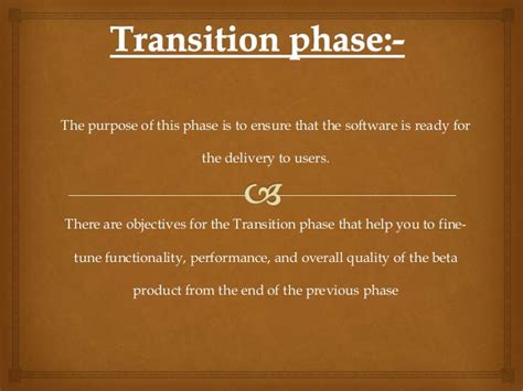 software project management transition phase