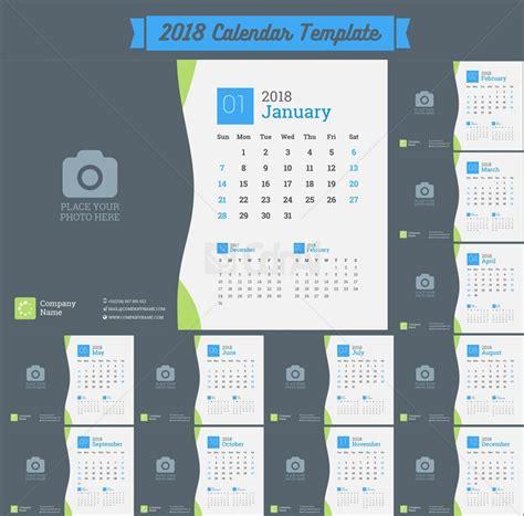 Calendar 2018 Eps Free 2018 Calendar Cdr Ai Eps Free Vector Cdrai