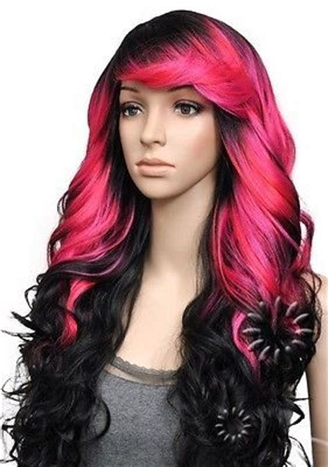 Pink And Black Hairstyles by Wigs And On