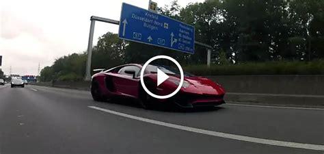 Lamborghini On Autobahn Lamborghini Aventador Sv Vs Huracan On The Autobahn