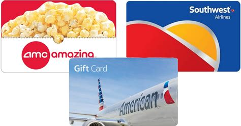 Southwest Airlines Gift Card Deals - printing big savings on gift cards including amc southwest airlines more