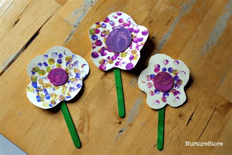 crafts for babies finger painting flower craft for toddlers nurturestore