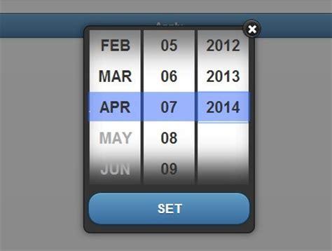 datepicker mobile jquery date picker plugins jquery script
