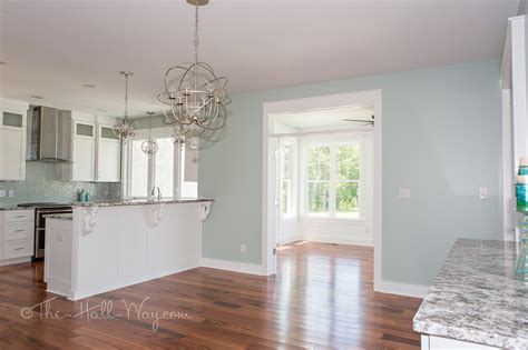 White Cabinets Gray Walls by Eastover Cottage The Kitchen The Hall Way