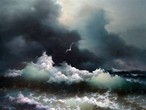 painting the sea people and birds with watercolor basics beautiful oil painting seascape ocean waves sea birds