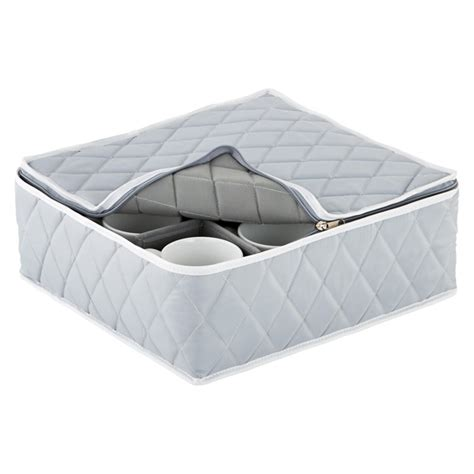 Quilted Plate Storage by Grey Quilted China Storage Cases The Container Store