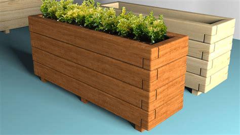 floreros rusticos de madera jardineras de madera para interior y exterior