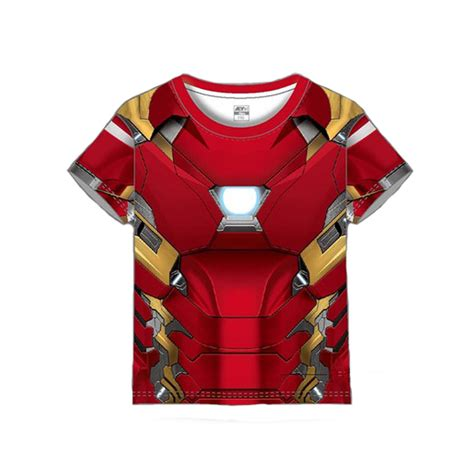 Hoodie Ironman 1 iron t shirts drying sleeved suit children sports suits costumes boy and