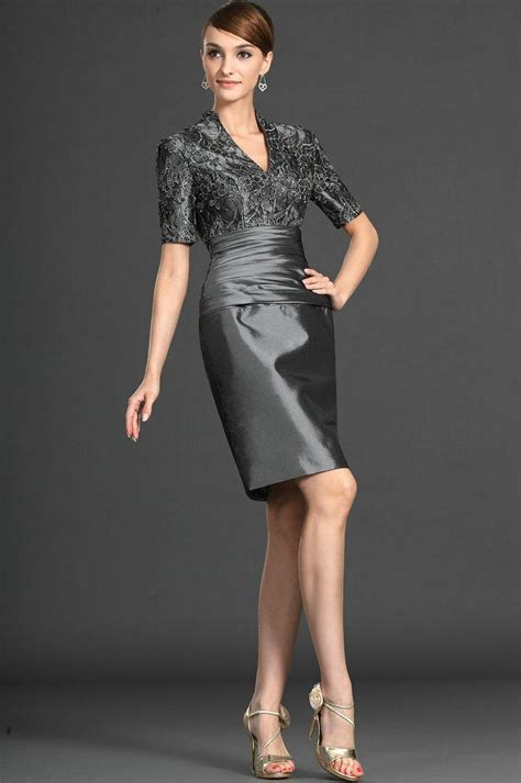Diskon Milan Greey v neck lace sleeves silver of the