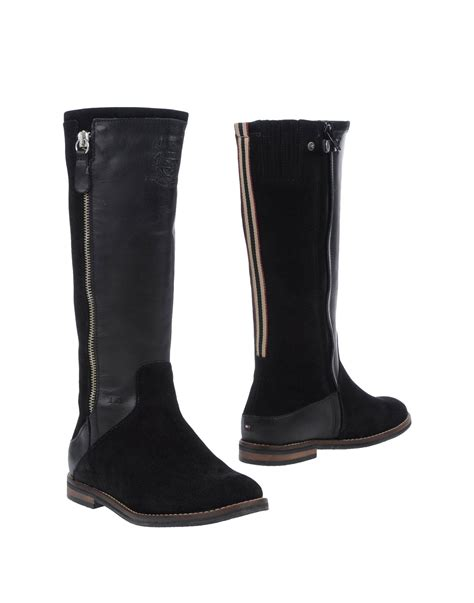 hilfiger boots hilfiger boots in black lyst