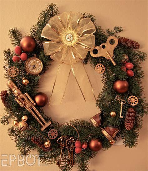 Purple Room Crafts - epbot my steampunk christmas wreath