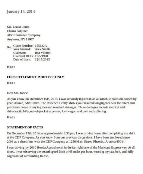Insurance Demand Letter Template sle letter to insurance company for claim settlement docoments ojazlink