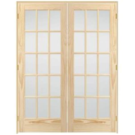 interior french door home depot steves sons 60 in x 80 in 15 lite glass solid core