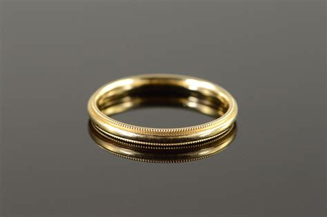 14k 3 1g 3mm milgrain wedding band s yellow gold ring