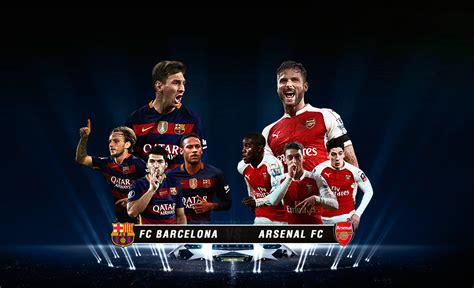 wallpaper barcelona vs arsenal fc barcelona fc arsenal champions league 2016 by lavista