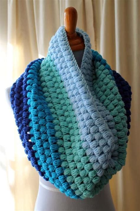 Blue Flower Puff Scarf 55 best haken mollie flower puff stitch images on