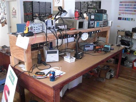 electronic test bench a descent wooden electronics test bench electronics workbench pinterest