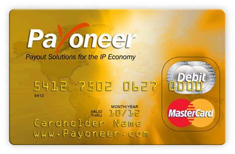 Payoneer Debit Card Get Free Pre Paid Master Debit Card By Payoneer Paksharez