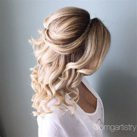 goddess hairstyles for prom half up half down hair goddess curled with a 1 quot chi