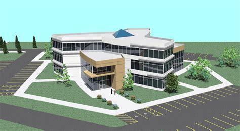 Office Building Design By Dan Sle At Coroflot Com Revit Architecture House Design