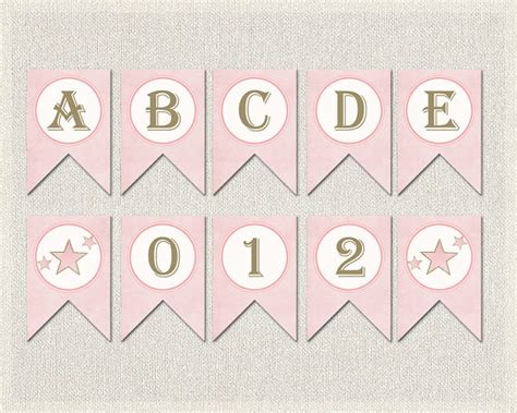 free printable letters pink whole alphabet banner pink gold baby shower banner bunting