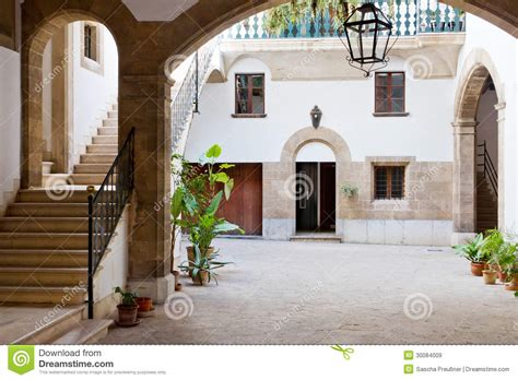interior courtyard stock image image of spain