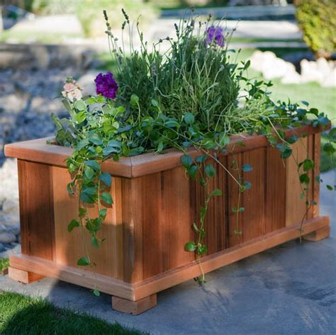 backyard planter box ideas how to make wooden planter