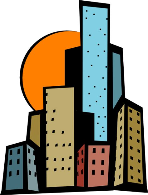 Skyscrapers Clipart skyscrapers in the city clip at clker vector