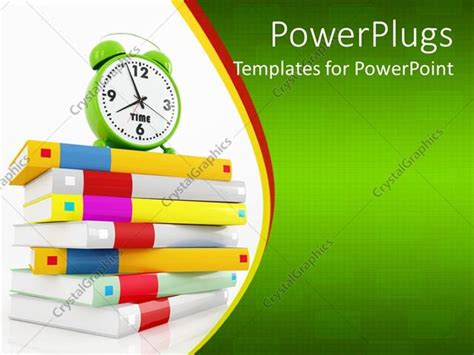 powerpoint template education theme with various colored