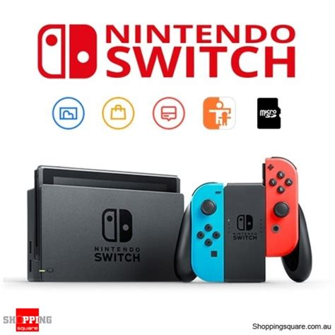 Nintendo Switch Neon Blue nintendo switch with neon blue and neon con console shopping shopping